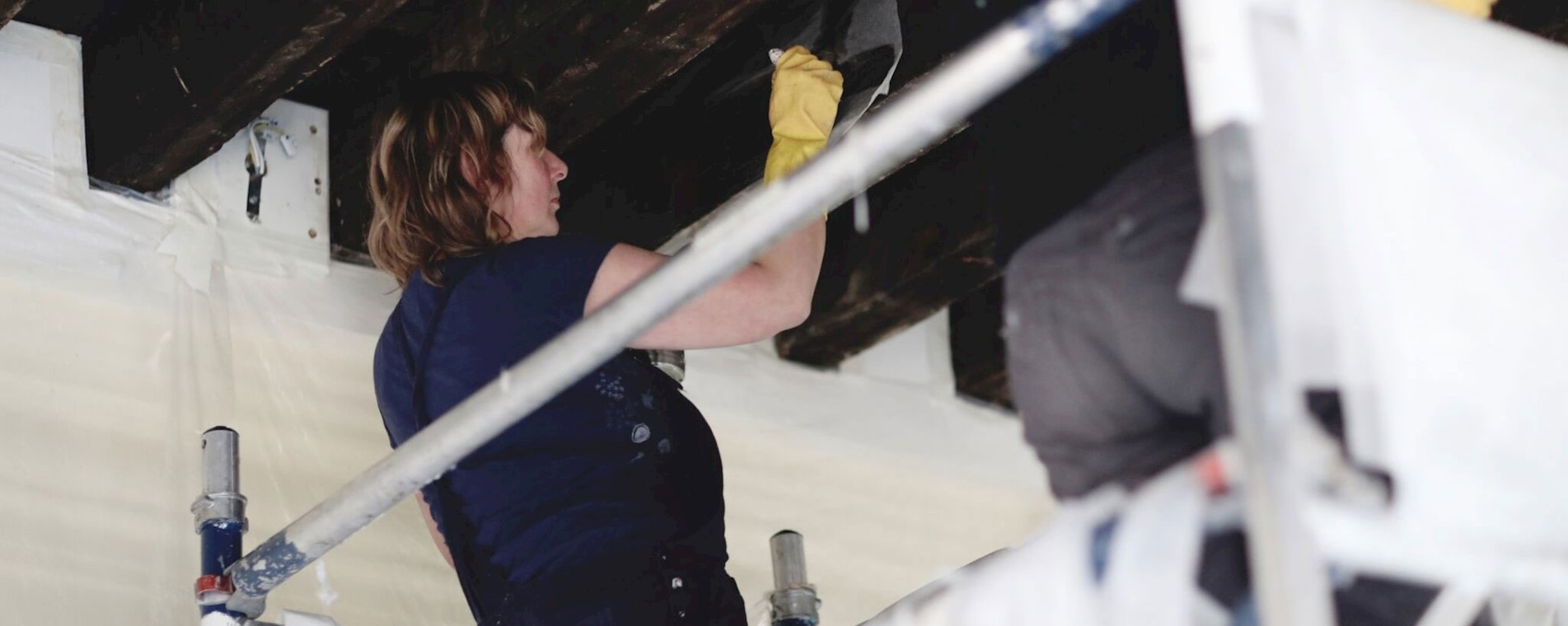 Conservation of the painted ceiling as part of the restoration project