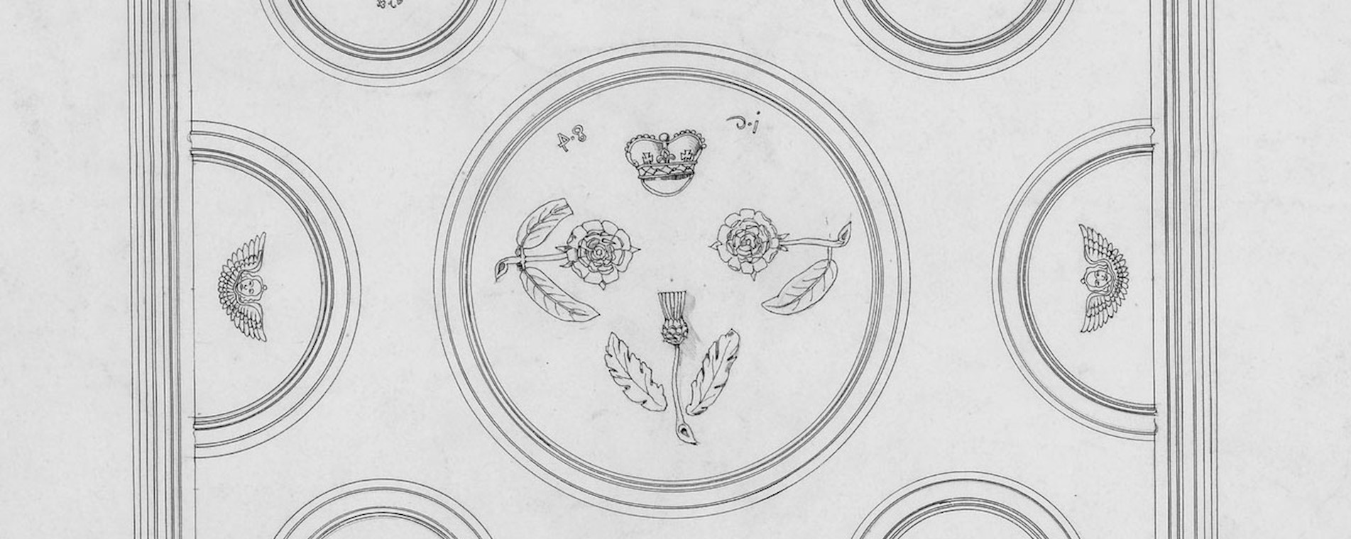 Norie Room Ceiling Drawing 1896 ©HES